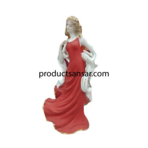 Red And White Ceramic Doll