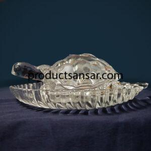 Glass Tortoise (Large) + Leaf Plate